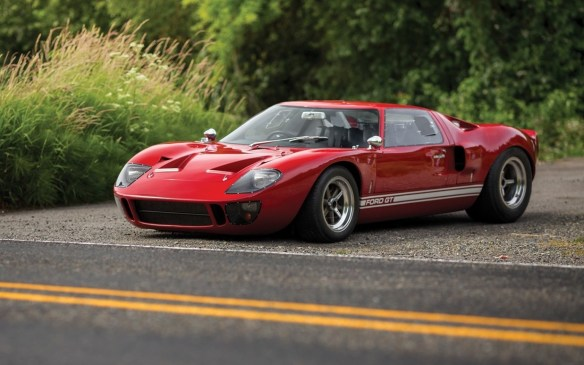<p>Designed specifically to beat Ferrari on the race track, which one did at Le Mans for the first time 50 years ago, this 1966 Ford GT40 (P-1057) sold for $2,900,000 (USD)</p>