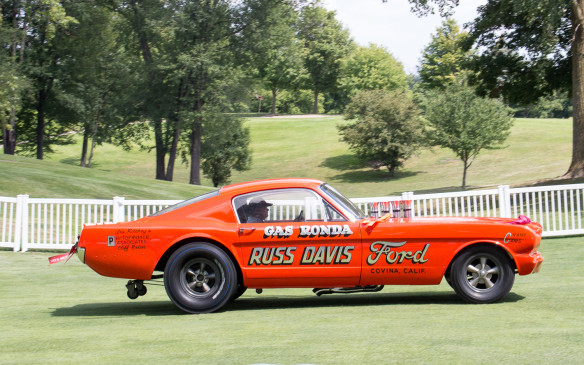 <p>Challenging the Can-Am cars for sheer ground-shaking, crowd-pleasing noise was this Mustang funny car, made famous by its driver, Gas Ronda, in its day.</p>