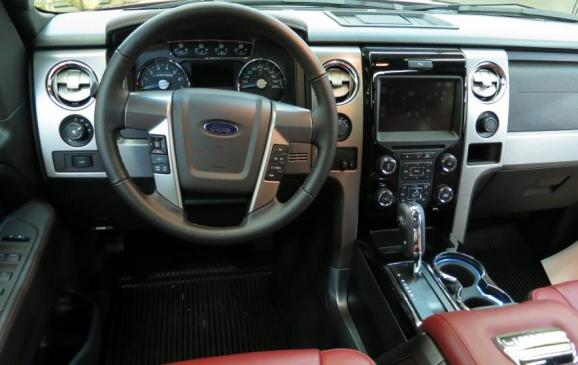 2013 Ford F-150 Limited - steering wheel and instrument panel