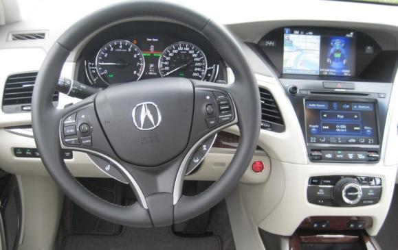 2015 Acura RLX - steering wheel, driver's view