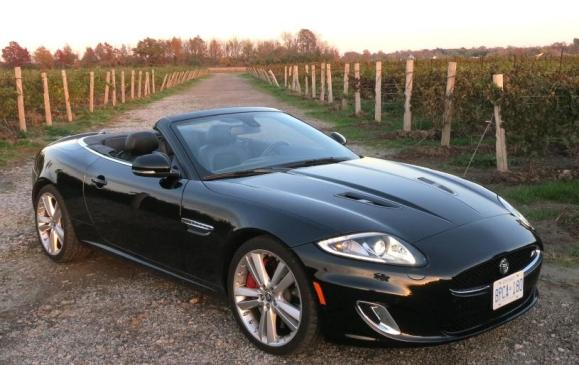 2013 Jaguar XKR - front 3/4 view