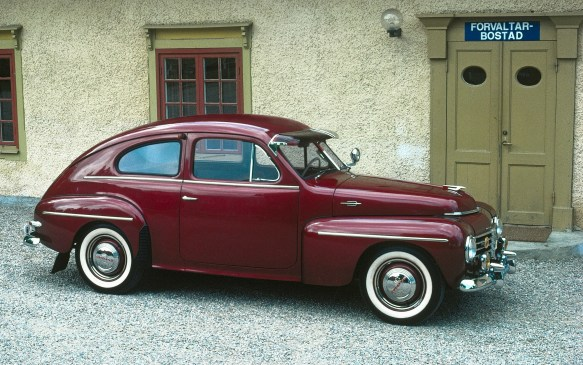 <p><strong>1947-1958 Volvo PV444</strong></p> <p>The small four-cylinder PV444 came to market in 1947 with a planned production run of 8,000. By 1958 production had reached 196,000. Then the very similar PV544 (a one-piece windshield and larger rear window were the main visual changes) took over and added another 244,000 between 1958 and 1965. The unibody 444 was notable for incorporating an early example of safety cage construction. Wouldn't one of these make a stunning street rod? </p>