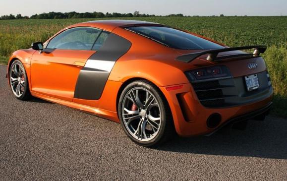 2012 Audi R8 GT - rear 3/4 view