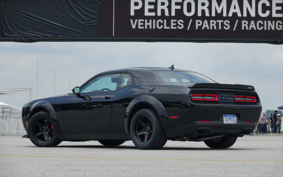 <p>The Demon has a base price of $109,995. It is, in many ways, much like a Bugatti Chiron for its unflinching focus – a production car created, without compromise, in this case to master the most American of motorsports: drag racing. It does so, magnificently, and nonetheless drives well on the street. Serious collectors will probably keep their cars pristine and the Demon Crate untouched. But that would be no fun. This diabolical muscle car, this tough and truly addictive machine is made to be driven, hard, on the quarter-mile. Giant kudos to SRT for building such a car, today. In Brampton, Ontario, Canada, eh!</p>