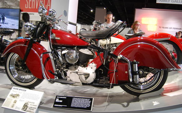 """<p>Indian introduced the Chief, in 1922, with thousands built during its 32 years of production. Fender skirts were adopted in 1940 to help distinguish the brand, while most other changes were made incrementally. The Chief served as the basis for the 340-B during World War II, and was the only pre-war motorcycle that Indian continued to produce until 1953, when the company closed.</p> <p>The model name, """"Chief"""", continued to live on as the brand was re-born through many subsequent iterations.</p>"""