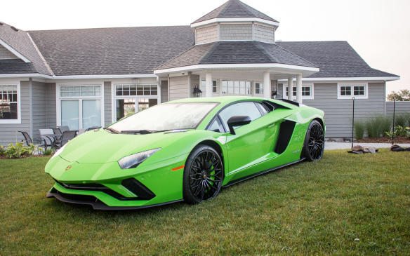 <p>It was just on display, not part of the competition, but who can resist a picture of a Lamborghini Hurracan– especially in lime green?</p>