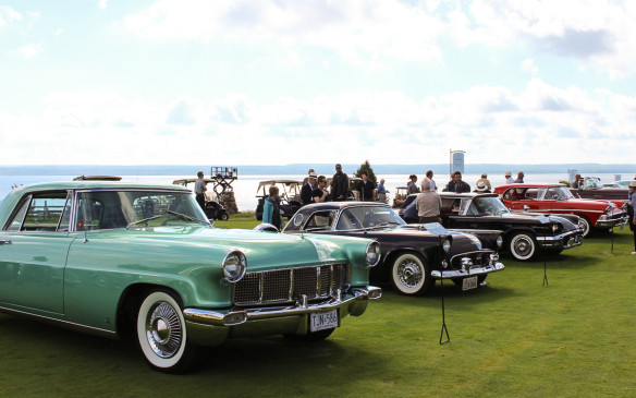 <p>Midway between those extremes, a class for post-war American production vehicles (up to 1973) was one of the richest in content, with a broad array of aspirational cars like this 1956 Continental Mk II in the foreground.</p>