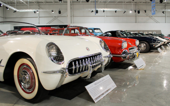 <p>Several important examples of the early Corvette lineage are on display, beginning with the 1953 model in the foreground – one of just 300 built in that first year of the fiberglass roadster's production.</p>