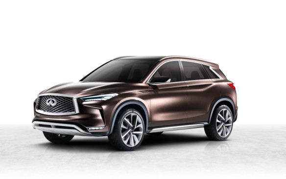 <p><strong>Infiniti QX50 Concept –</strong> The design evolution for Infiniti's next-generation mid-size SUV has been a careful one, starting with the QX Sport Inspiration concept and now moving into the QX50 Concept. It represents a departure from a style language that has persisted since the launch of the EX35 back in 2007 but that will bring the next QX50 more in line with the brand's broader vision, with a more squared-off body shape and curvaceous rear window being among its notable features.</p>