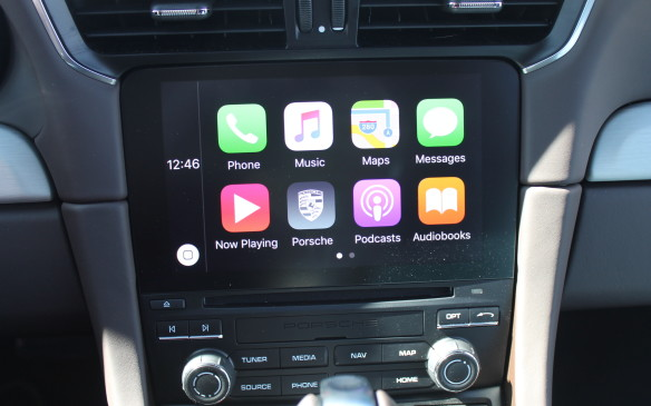 <p>Apple Car Play is included, so the 7-inch display screen on the instrument panel will work just like the display on your iPhone. It responds to swipes to move and pinches to zoom in and out, too. An android alternative will come soon.</p>