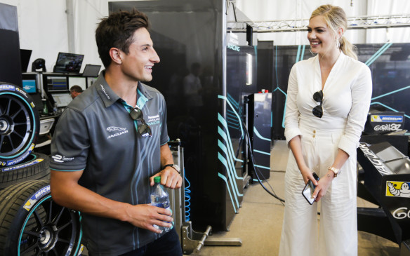<p>Supermodel and actress Kate Upton and X-Men actor Nicholas Hoult were on hand to watch both Formula E races in Montreal. Upton would hand out the winner's trophy after the first race.</p>