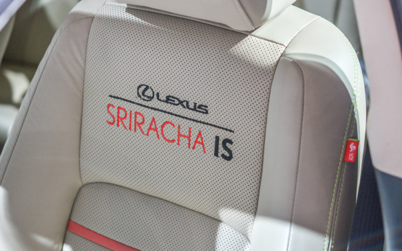 <p><strong>A reminder</strong></p> <p>Just in case you forget what car you're about to get into, the front seat backs will remind you in big bold lettering.</p>