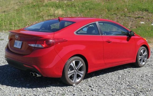 2013 Hyundai Elantra Coupe -rear 3/4 view