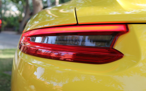 <p>The LED taillights are thin strips, but very effective at helping to be seen.</p>