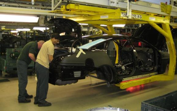 2012 Jaguar XJ Coventry production line - 2