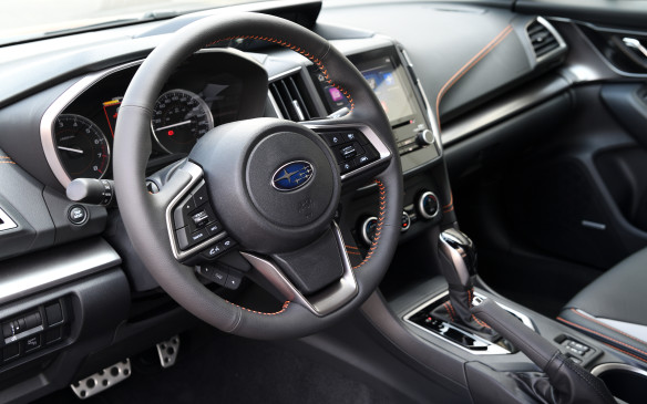 <p>X-Mode is standard in Crosstreks equipped with a continuously variable transmission, which is designed to mimic a 7-speed automatic. All CVTs include steering-wheel mounted paddle shifters, and cost an extra $1,300.</p>