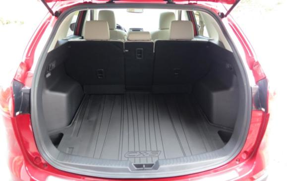 2014 Mazda CX-5 -cargo area with seatbacks folded