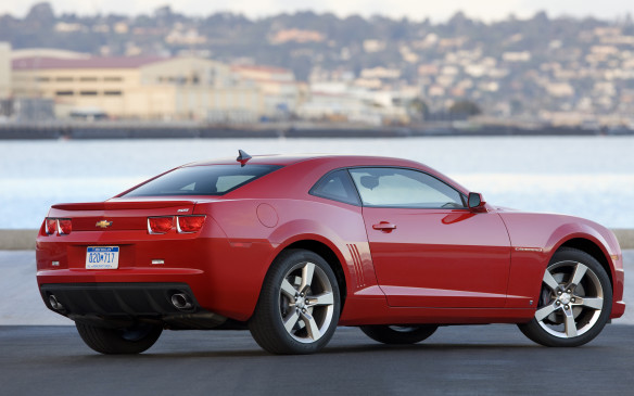 <p><strong>2010-13 Chevrolet Camaro</strong></p> <p>A 304-hp, direct-injection 3.6-L DOHC V-6 was the base engine, while the Camaro SS came with one of two 6.2-L pushrod V-8s. Automatic-equipped SS models got the 400-hp L99 with gas-saving cylinder deactivation, while manual-transmission cars earned the 422-hp LS3. Six-speed manual and automatic transmissions were available with any of the powerplants. The base V-6 got a boost to 312 hp for 2011, and the soft-top convertible arrived mid-year. Assembled in Ontario, this American icon has not disappointed fans. Pilots praised their cars for their copious power, tenacious road grip, smooth drivetrains and fantastic curb appeal.</p>