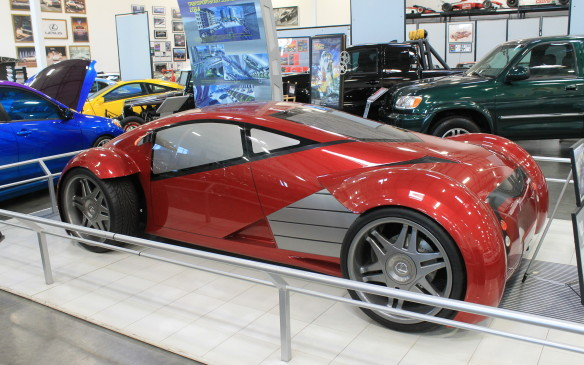 <p>It's parked close to the most futuristic vehicle in the collection. This is one of the cars used in the movie Minority Report, in which Tom Cruise fights with Colin Farrell in the assembly plant.</p>