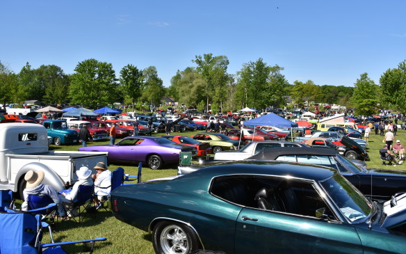 <p>Plunkett says it started as a little get-together with a handful of gearhead friends, their cars, and a couple cases of Coke 15 years ago. It now seems to grow every year, drawing thousands of vehicles and throngs of spectators. Proceeds from the event (admission is just $10) are shared by more than 30 area charities, with more than $1.4 million raised since its humble beginning in 2002.</p>