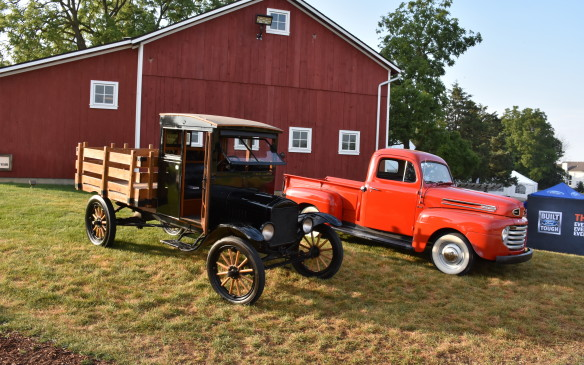 <p>1920 Ford TT and 1950 Ford F1 Trucks</p>
