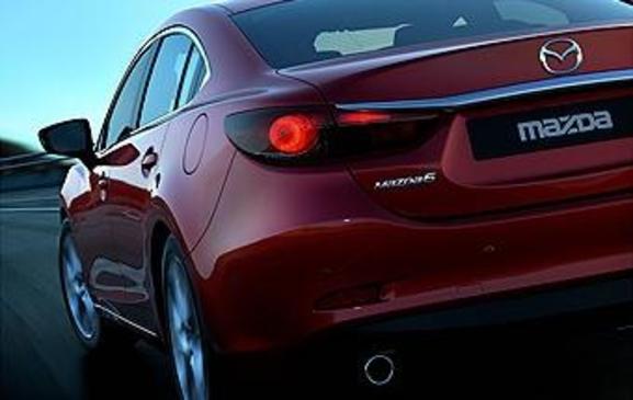 2013 Mazda6 - rear view teaser close crop