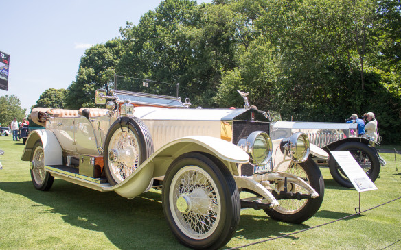 <p>There was a separate class for Rolls-Royce Silver Ghosts, another of the super-luxury cars of the early automotive period. Silver Ghosts were built from 1907 through 1926, all custom-bodied to customers' specifications by specialty coachbuilders. This 1914 Silver Ghost Tourer has been rebodied by Littin and Son.</p>