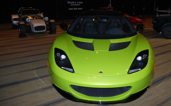 <p>Not only is this Lotus looking at you, but its smiling. Even the older version (rear left) seems to have a cartoon-ish type look to them. Hmmmm! Makes me think of Cars The Movie. If you stay long enough, itmay just wink at you.</p>