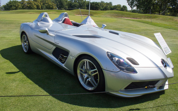 <p>Perhaps even more exotic was this 2009 Mclaren-Mercedes SLR Stirling Moss limited-edition speedster – one of just 75 built. When new, it was made available only to existing SLR owners!</p>