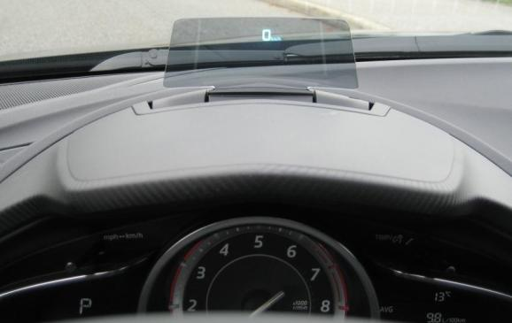 2014 Mazda3 - head-up display