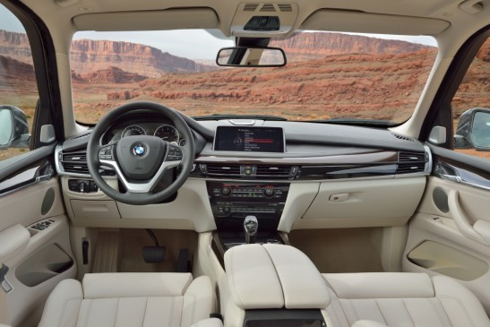 2013 BMW X5 - steering wheel and instrument panel