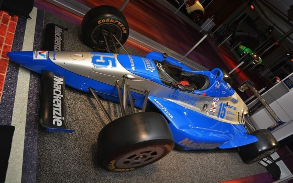 <p>This is the actual Lola-Ilmor Chevrolet that Canadian Scott Goodyear drove to second place in the closest Indy 500 finish ever, in 1992. He crossed the yard of bricks after 500 miles just 0.043 second behind race winner Al Unser Jr.</p>