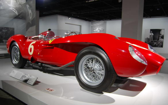 <p>The pontoon fenders enabled airflow around the front wheels and down the body sides. This 250 TR, a Scuderia Ferrari team car, debuted in Argentina at the 1000 km of Buenos Aires, where it was driven by Luigi Musso and legendary Belgian driver Olivier Gendebien.</p>