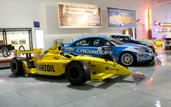<p>It's not just Cadillac race cars on display. There are examples of GM's broad range of involvement in various form of motorsport, including IndyCar.</p>