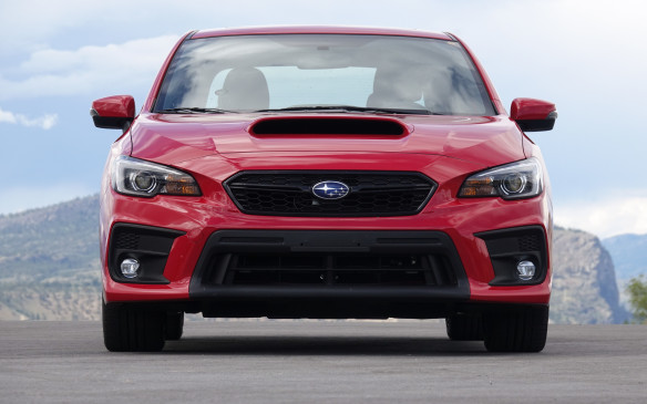 <p>The WRX (shown) and WRX STI get new front fascias that share that same general layout. While the upper grille is smaller and more slender, the lower grille has been enlarged, for better air flow to the engine and major systems. All the cars now have LED lights for high beam, low beam and DRLs. WRX STI models and Sport/Sport-tech versions of the WRX also provide steering-linked headlights.</p>
