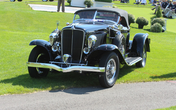 <p>The weather was perfect for the Concours itself, however - an ideal mix of sun and cloud and just-right temperature - showcasing the beauty of the cars to their maximum advantage.</p>