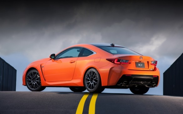 <p>The F version of Lexus's RC Coupe features the brand's most powerful engine ever – a 467-horsepower 5.0-litre V-8 that unlike most competitors doesn't rely on a turbocharger or supercharger to hit its 369-lb-ft torque peak.</p>