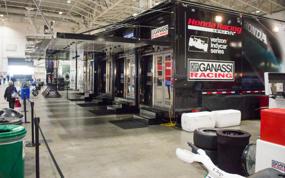 <p><strong>Mobile workshops</strong></p> <p>The big teams, like Ganassi, park and connect their transporters together to create one big mobile office and workshop.</p>