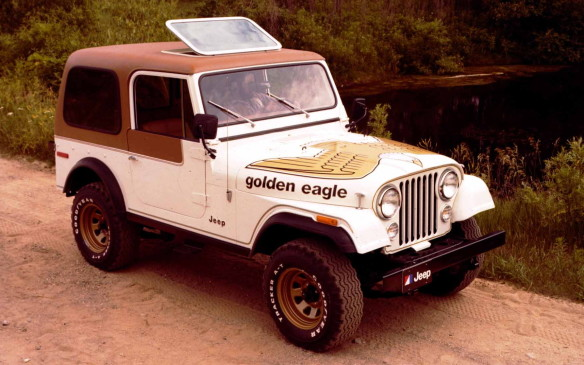 <p>In 1977, the new CJ-7 provided a longer wheelbase than the CJ-5 and an automatic transmission, as well as an optional moulded plastic top and steel doors. Both the CJ-7 and CJ-5 were sold beside each other at dealerships until the smaller Jeep was discontinued in 1983.</p>
