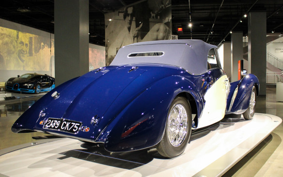 <p>This Type 57C convertible with body by Gangloff was called Aravis after a mountain range in France. The Aravis was said to be Jean's favourite rendition of his Type 57 design. In 1939, at age 30, Jean Bugatti was killed when he crashed a Type 57.</p>
