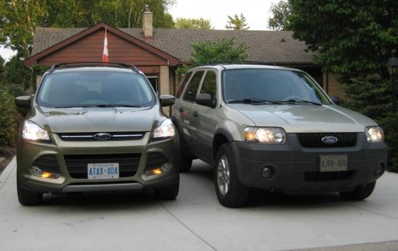 2013 Ford Escape - with 2005 Escape, front views
