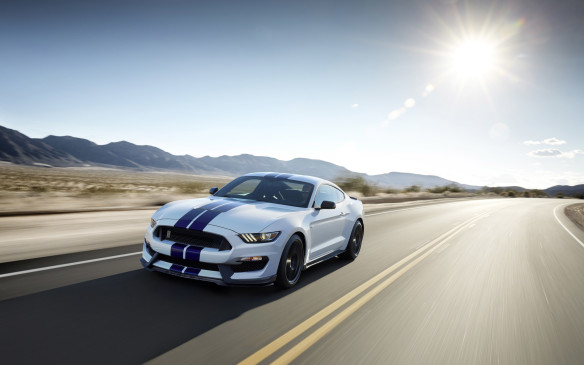 <p>Ford's tribute to the 50<sup>th</sup> anniversary of Carroll Shelby's original GT350 is driven by the most powerful, highest-revving normally-aspirated engine in Mustang history, with outputs of 526 horsepower and 429 lb-ft of torque.</p>
