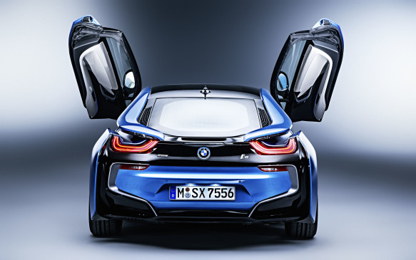 <p>Multiple tailpipes are usually a design highlight of exotic cars, but none are apparent on the i8 – even though it does have a gasoline engine. The MINI Cooper-based, 228-hp, 1.5-litre 3-cylinder engine is mounted just forward of the cabin and turns the rear wheels through a six-speed automatic transmission. An integrated 8-kW electric starter-motor-generator provides a little extra boost …</p>