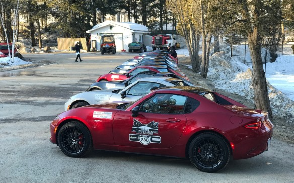 <p>The competition was intense and the stakes high: the winning team would take home $10,000 as a donation to the charity of their choice. And to cap it off, the rally cars would be the brand-new Mazda MX-5 RF – the just-released, Targa-roofed versions of Mazda's best-selling roadster. Who cares that temperatures were below freezing?</p>