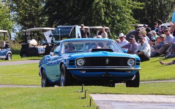<p>The winner of the Muscle Car class was this rare, ground-shaking 1970 Ford Mustang Boss 429.</p>