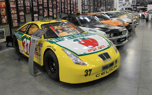 <p>This No. 37 Celica was the first Toyota to be entered into NASCAR, back in 2000. With driver Robert Huffman, it placed second in the Goody's Dash championship in 2001 and 2002, and won the series title in 2003.</p>