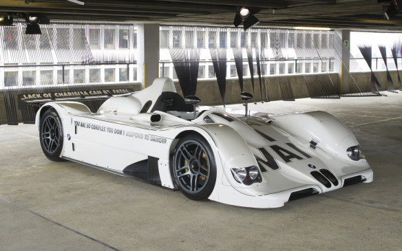 <p>BMW V12 LMR Art Car by Jenny Holzer was one of three Le Mans prototype racers built by BMW for the famous 24-hour race in 1999. The Ar car was withdrawn before the start but one of its sister cars claimed the victory – the only overall win ever for BMW in the classic contest.</p>