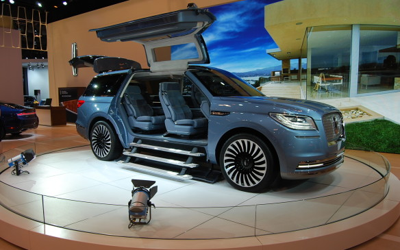 <p>Concepts are always great to look at while at the auto show.  It's a great way to get a feel for where a brand is headed.  Concepts don't always make it to production, but their manufacturers sure spend a lot of time making them very cool machines.  This one in particular can be found the Lincoln booth, and it kinda looks like a living room on wheels.  Netflix anyone?  I'll bring the popcorn.</p>