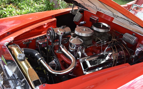 <p>Packard engine in custom roadster built on Henry J chassis</p>