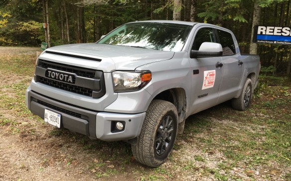 <p>The Toyota Tundra 4X4 CrewMax SR5 ($61,913.47 as tested) was equipped with the rugged optional TRD Pro off-road package ($13,595), and those upgrades proved their worth as the Tundra easily conquered the off-road course. For power, the Tundra had a 5.7-litre V-8 under its hood, with a six-speed automatic transmission to feed the output to the four-wheel drive. The rear seat area was huge – you wouldn't need to invest in a tent as there was plenty of space to camp in the cabin. The exhaust note was amazing, especially when you hit the go pedal hard, although it would probably become tiresome after listening to it for a few hours. The Tundra finished with a score of 73.7%.     </p>